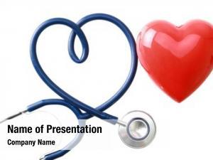Heart stethoscope shape red heart,
