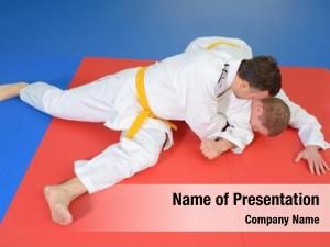 Judo two men mat