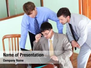 Business business theme: people work