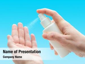 Spray antibacterial sanitizer hands