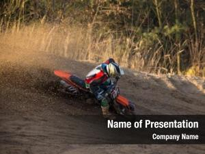 Race, motocross bike close up