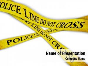 Not police line cross white