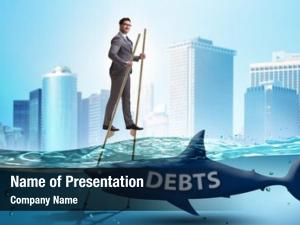 Dealing businessman successfully loans debts