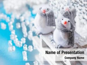 Funny christmas sleigh penguins