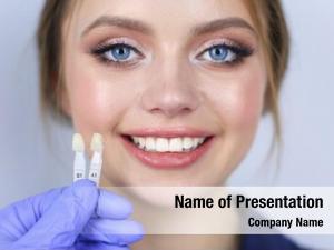 Sitting dentist patient dentist office