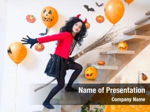 Devil girl costume broom halloween