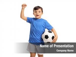 Joyful little footballer