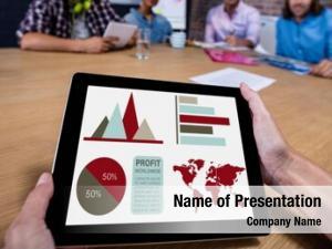 Business digital composite presentation against