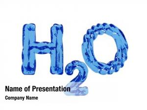 Letters h2o water