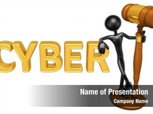 Legal cyber law gavel concept