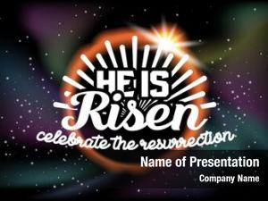 Risen celebrate powerpoint template