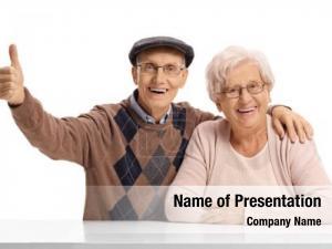 Satisfaction elderly man and an elderly