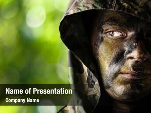 Soldier portrait young face hood