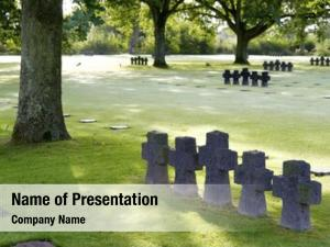 Cemetery german military cambe, normandy,