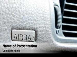 Car airbag sign dash