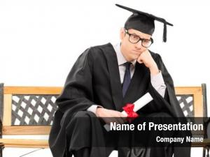 Graduate angry college holding diploma