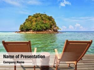 Sea green island bay emerald