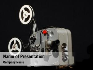 Film vintage portable projector black