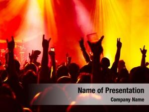 Crowd silhouettes concert rock concert