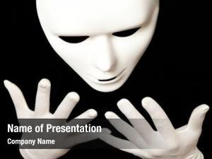 Mask white theatrical black