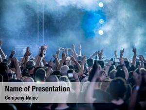 Rock concert crowd concert