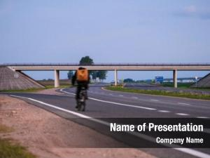Cyclist on the highway