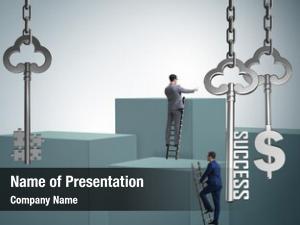 Financial businessman key success concept