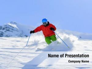 Freeride skiing, skier, fresh powder