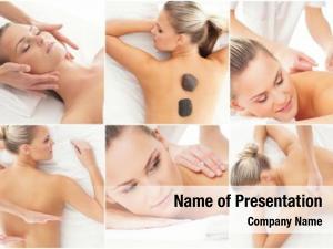 Different women having types massage