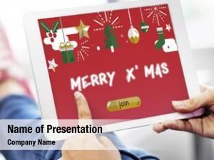 Decoration festive christmas website social