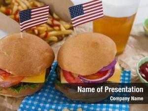 4th hamburgers decorated july theme