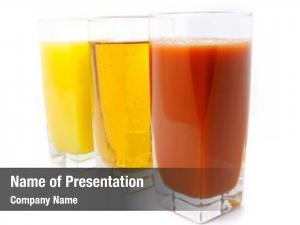Grape orange apple juice glass