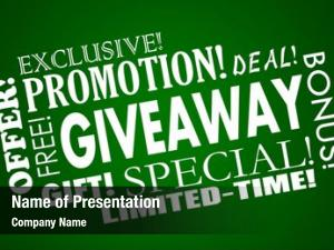 Promotion giveaway free special offer