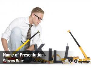 Concept: building skills focused businessman