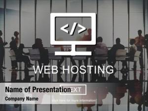 Server web hosting website user