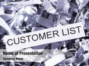 Tagged shredded paper customer list,