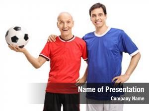 Togetherness old soccer player