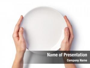 Plate woman hands