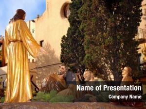 Jesus sculpture group praying gethsemane