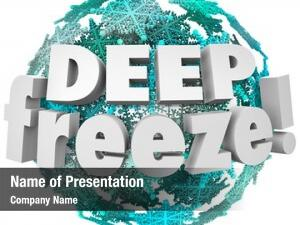 Snowflake deep freeze ball cold