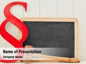 Red empty blackboard paragraph law