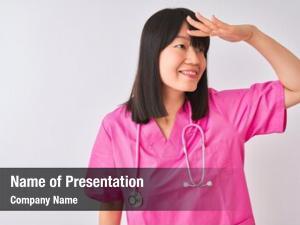 Chinese young beautiful nurse woman