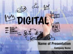 Business digital composite man hand