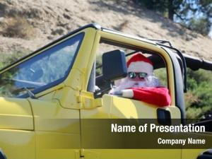Hot rod smiles santa claus