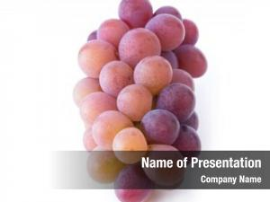 Colored soft light red grapes