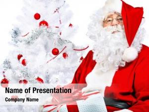 Santa christmas theme: claus presents