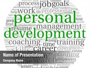 Career personal development concept word