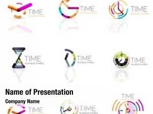 Time geometric clock icon logo