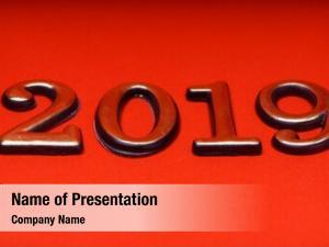 Year happy new 2019, golden