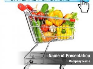 Food shopping cart white